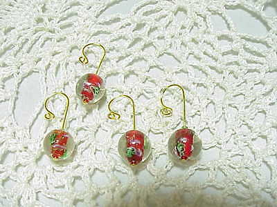 Christmas Snow Globes  CROCHET / KNITTING STITCH MARKERS set of 4