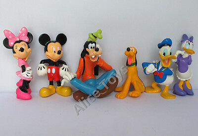 Mickey Minnie Donald Goofy Pluto Cake Topper Figure Toys Set of 6pc