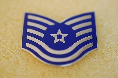 US USA USAF Air Force E-6 Technical Sergeant Military Hat Lapel Pin
