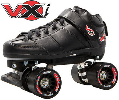 Crazy VXi Mens/Ladies Recreational / Derby Roller Skates - Black - Size 36