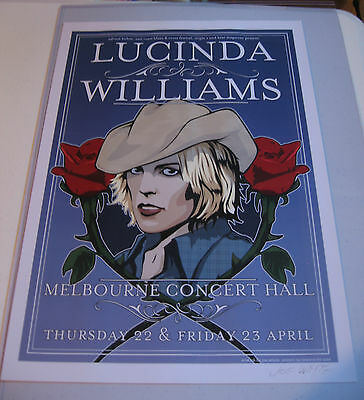 Lucinda Williams Poster Signed by Joe Whyte - Limited Edition