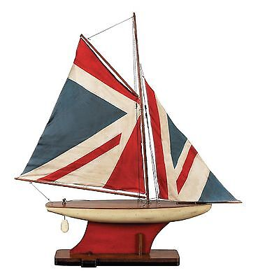AS051 Union Jack Pond Yacht Scale Model Ship   -  Authentic Models