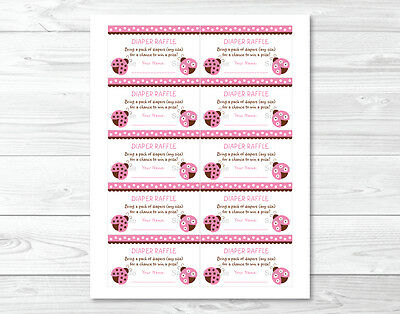 BLUSH PINK & Gold Glitter Dots Printable Baby Shower Diaper Raffle ...