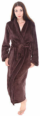 Unisex Women Men Winter Warm Long Soft Plush Sps Comfortable Bathrobe Sleepwear
