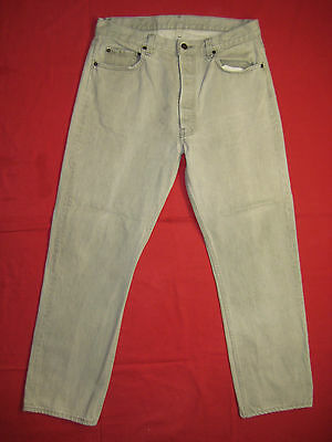 D7422 lev'is 501 gray jeans 36x30 made in the U.S.A. vintage