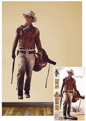 John Wayne Western Image Life Size Removable Wall Sticker Decal NEW SEALED
