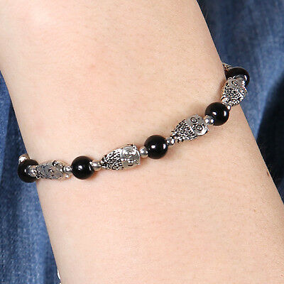 HOT Free shipping New Tibet silver owl beads jade turquoise bead bracelet S104