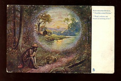 Music Illustrated Swanee River Tuck #1159 PPC used 1903