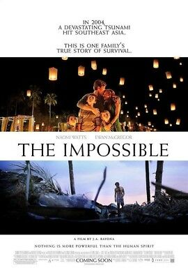 THE IMPOSSIBLE MOVIE POSTER 2 Sided ORIGINAL 27x40 NAOMI WATTS