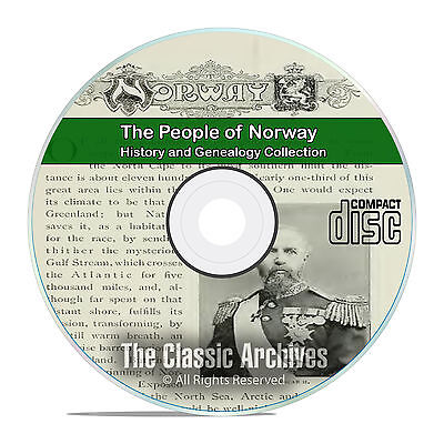 Norway, People Cities and Towns, History and Genealogy 37 Books DVD CD B26