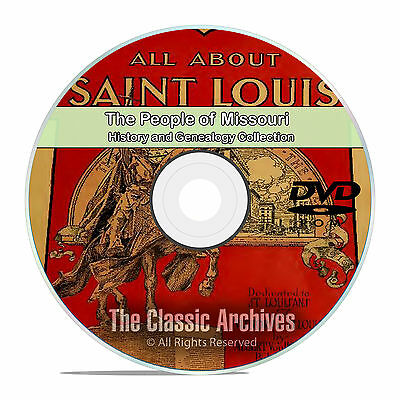Missouri MO People Cities Towns History and Genealogy 201 Rare Books DVD CD B23