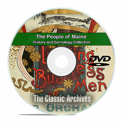 Maine ME, People, Cities and Towns, History and Genealogy 352 Books DVD CD B04