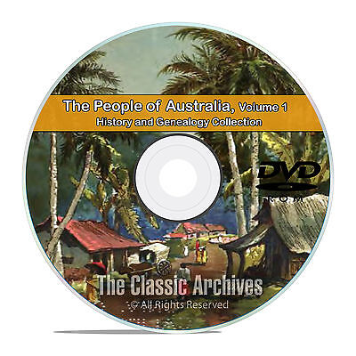 Australia Vol 1, People Cities Towns, History and Genealogy 163 Books DVD CD B29