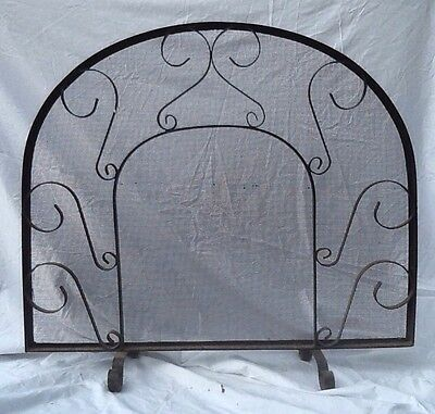Fireplace Screen Iron And Mesh