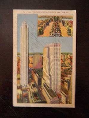 Linen New York City Postcard - 11 - RCA & International Buildings, NYC