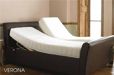 Latex Foam Verona Electric Adjustable Sleigh Bed DUAL Double 4ft6 Memory Handset