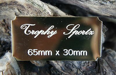 65mmx30mm,CONCAVE CORNERS ,SELF ADHESIVE BRASS ENGRAVING PLATES,CUSTOM ENGRAVED
