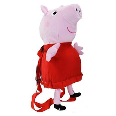 """Peppa Pig Plush Backpack - 16"""" inches BRAND NEW for Girls - Licensed Product"""