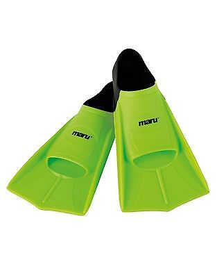 Maru Lime Training Flippers. Swimming Fins. Maru Flippers.Flippers. All Sizes