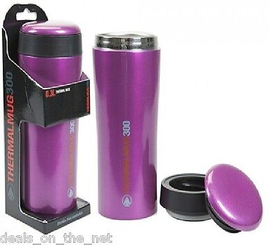 Summit Insulated Thermal Travel Coffee Mug Cup Stainless Steel Leakproof Purple