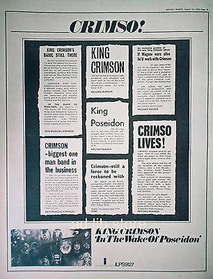 King Crimson - In The Wake Of Poseidon, Uk Poster-Size Press Ad/advert 1970