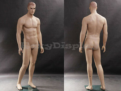 Male Fiberglass Realistic Mannequin with Molded Hair Dress From Display #MZ-WEN5
