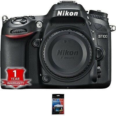 NEW Nikon D7100 Digital SLR Camera Body w/ USA Warranty Bundle