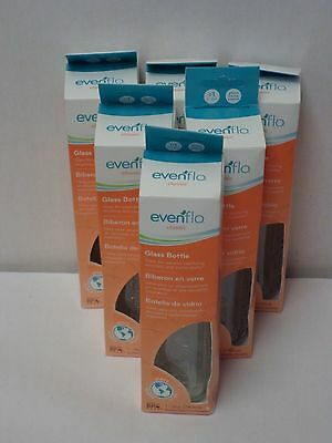Evenflo Classic Glass Baby Bottle With Nipple, 8 oz (Pack of 6)