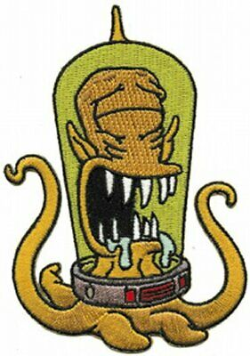 The Simpsons Drooling Kang Alien Figure Embroidered Patch, NEW UNUSED