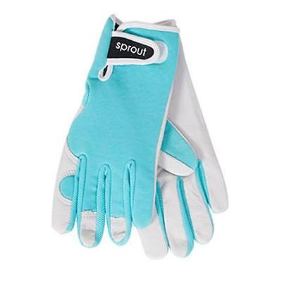 Sprout Seaspray Ladies Goat Skin Soft Leather Garden Gloves Gardening New