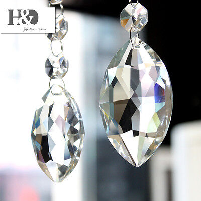 1 Clear Teardrop Glass Chandelier Crystal Prisms Lamp Parts Suncatcher Pendants