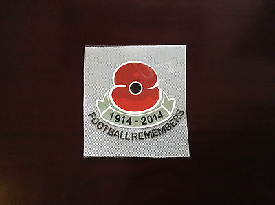 Poppy 100 years 2014-15 with FOOTBALL REMEMBERS PU patch