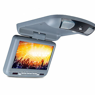 """D3108V 9"""" Car Flip Down Monitor w/DVD Player Roof Mounted Game O1 Grey Overhead"""