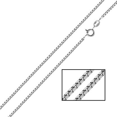 Sterling silver Italian Box chain Necklace 925 1mm 14 16 18 20 22 24 30 inch Z04
