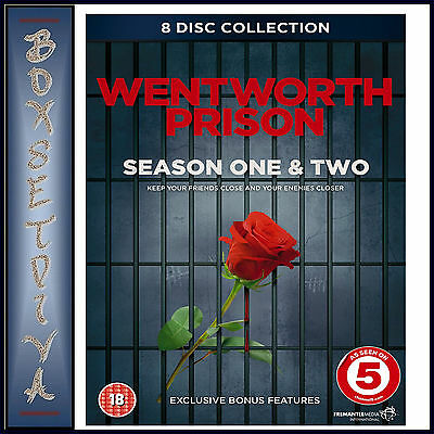 Wentworth Prison - Complete Seasons 1 & 2  **Brand New Dvd Boxset ***