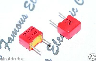 63V 5/% pitch:5mm Capacitor FKP2C002201D00JSSD WIMA FKP2 220P 0,22nF 10pcs
