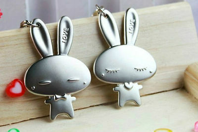 AAA Rabbit Couple Keychain Fashion Metal couples Key Ring for lover