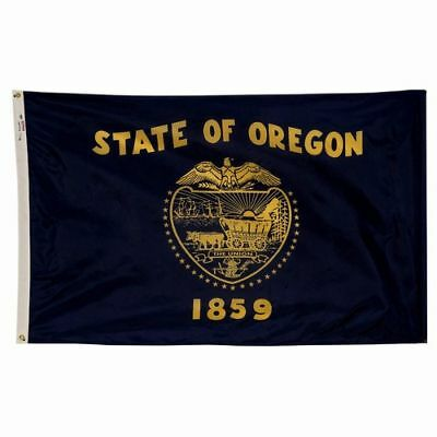 OREGON The Beaver State OFFICIAL FLAG 5X8 FT 2 SIDED OUTDOOR NYLON MADE IN USA