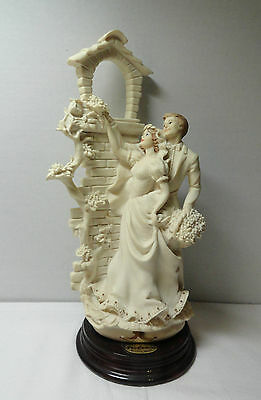 Signed Giuseppe Armani Figurines Love in Bloom Wedding 0201F Rare Retired Italy