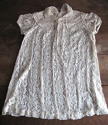 1940 Young Girls Lace Dress - Babies Childrens - Cotton Lace