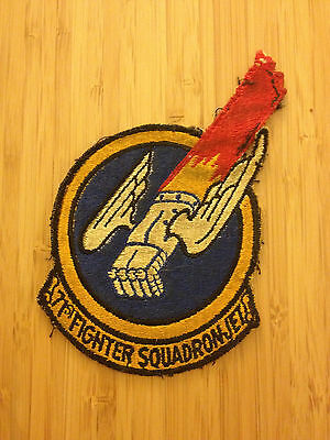 USAF PATCH 71st FIGHTER SQUADRON JET - Removed from Jacket Worn - US Air Force