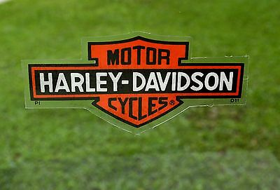"""Harley Davidson Bar & Shield SMALL 4""""x 2"""" INSIDE Sticker/Decal New Authentic"""