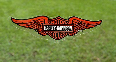 """Harley Davidson Wings Bar & Shield SMALL 4"""" INSIDE Sticker/Decal New Authentic"""