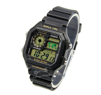 -Casio AE1200WH-1B  Digital Watch Brand New & 100% Authentic
