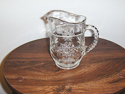 ANCHOR HOCKING STAR OF DAVID PITCHER HEAVY 5 1/2 INCHES TALL