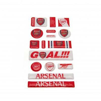ARSENAL FC Official Bubble Sticker Set - Self Adhesive 3D Stickers Gunners