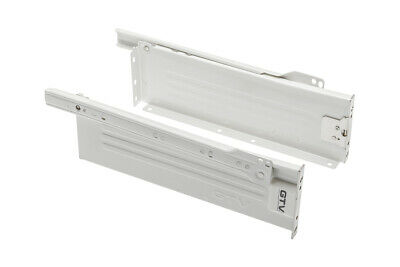 Metal Kitchen Drawer Runner & Side Set From 270mm to 550mm Hight - 86mm