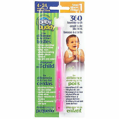 360 Toothbrush Step 1 (Pink)  Baby Buddy :  Oral Care Program : STAGE  5