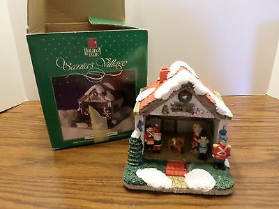 "Santa's Village -  Hand Painted, Handcrafted Porcelain ""Santa's Work Shop"""