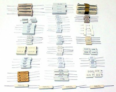86Pc, 20 Value Ceramic Body Wirewound Power Resistor Assortment Kit